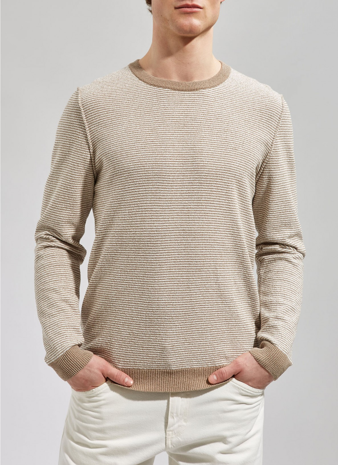 Pullover Rundhals 1/1 Arm, New CamelFrontansicht