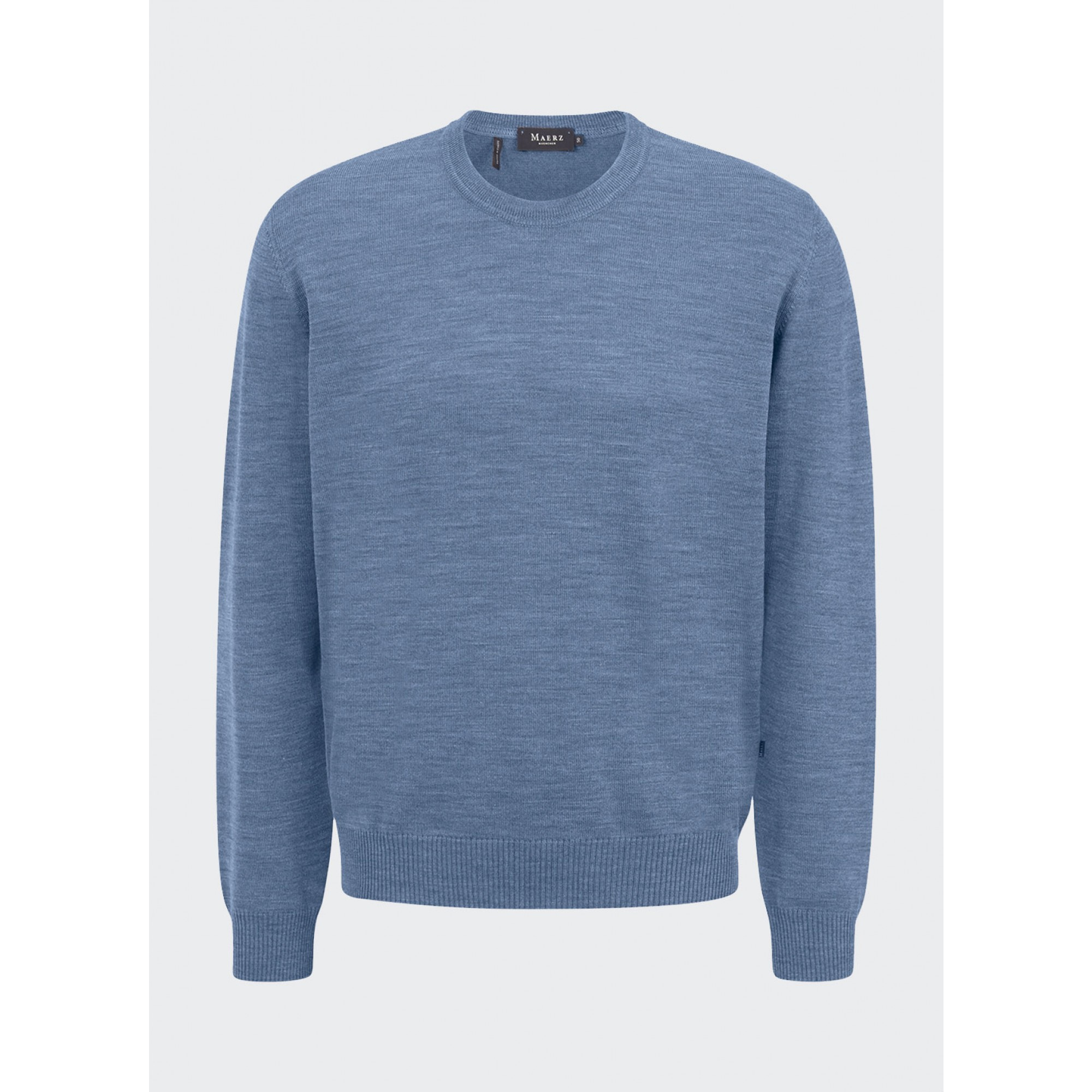 maerz - Herren Pullover Rundhals, Superwash, Classic Fit