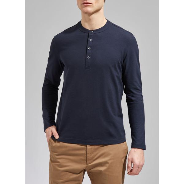 Artikel klicken und genauer betrachten! - The Perfect Basic: Schlichtes Langarm-Shirt aus 100% hochwertiger Baumwolle von MAERZ Muenchen. Das unifarbene Jersey-Shirt ist Made in Europe und  nach STANDARD 100 by OEKO-TEX zertifiziert. Es präsentiert sich in modernem, minimalistischem Design. Der Henley-Kragen sorgt für ein cooles Highlight an dem sonst so schlicht gehaltenen Shirt. | im Online Shop kaufen
