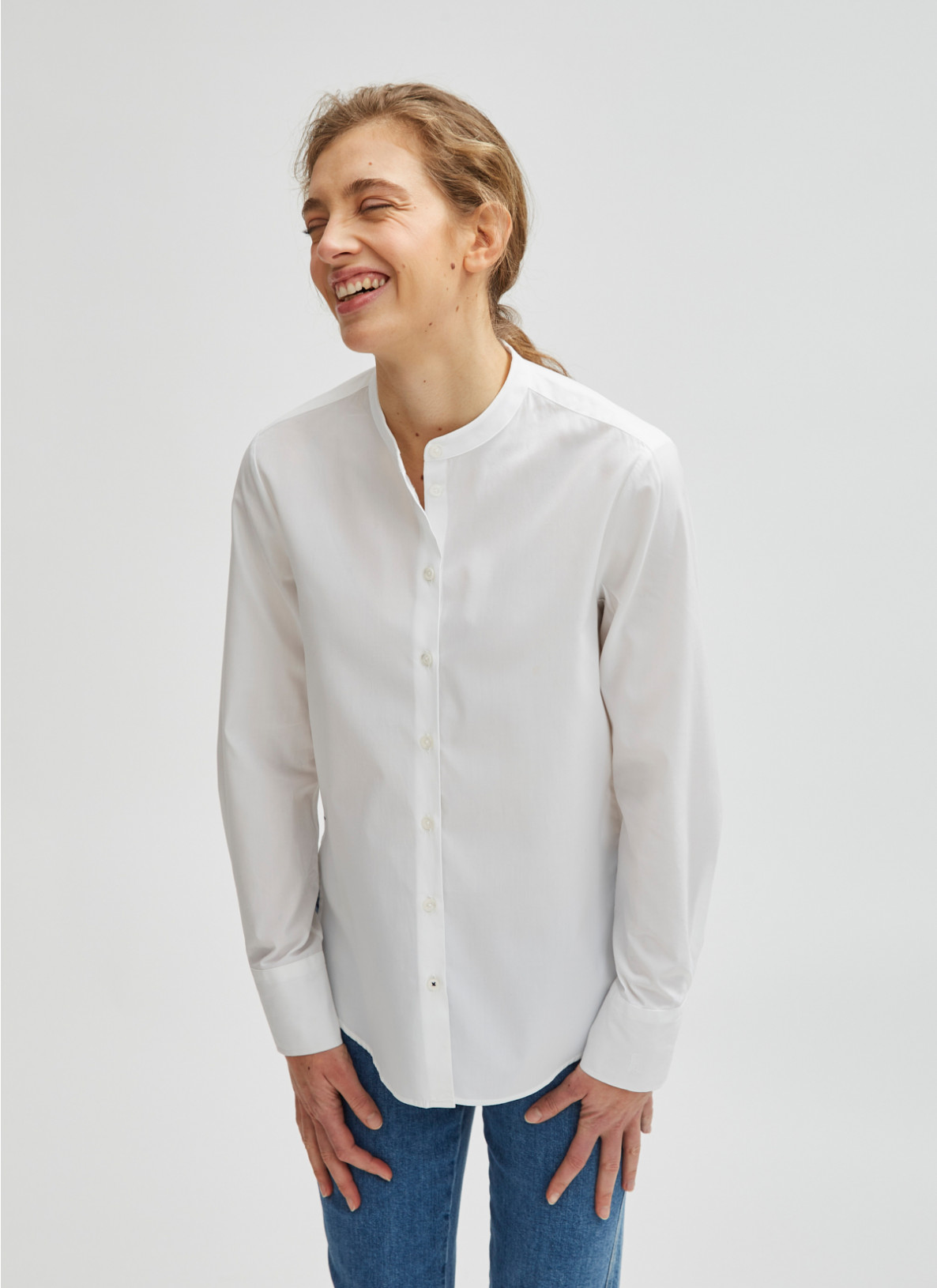 Bluse 1/1 Arm, Pure White Frontansicht
