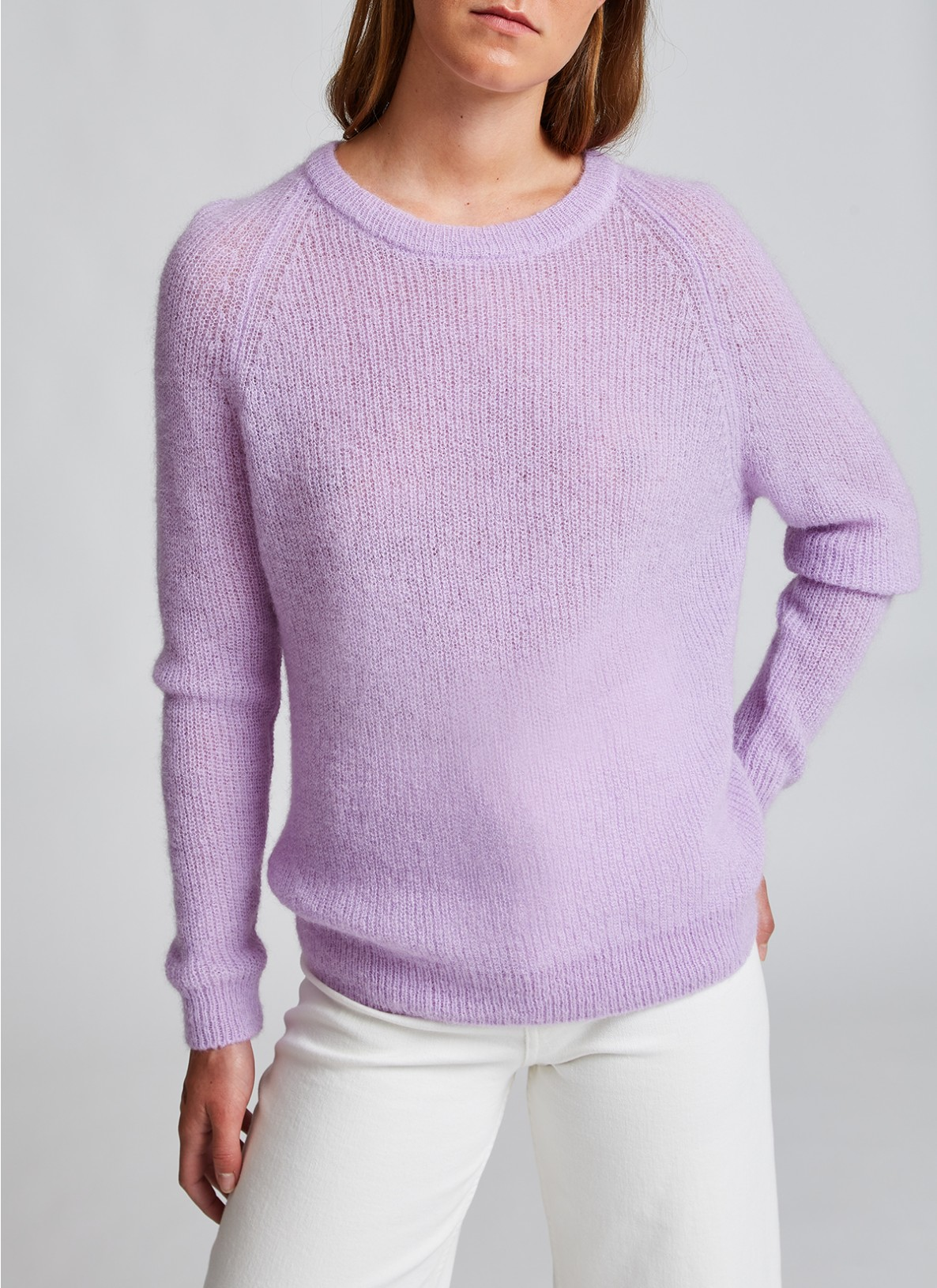 Pullover Rundhals 1/1 Arm, Frosted LavenderFrontansicht
